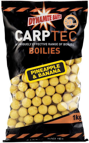 Бойлы тонущие Dynamite Baits CarpTec Pineapple & Banana 20мм 1 кг (Ананас и банан)