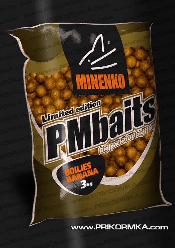 Бойлы пылящие Minenko PMbaits Honey 26мм 3 кг (Мед)