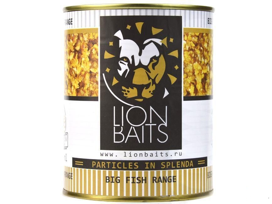 Зерновая смесь Lion Baits  Sweetcorn Crushed 900 г (Кукуруза дробленая)
