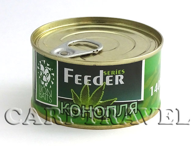 Зерновая смесь фидер Lion Baits  Hemp seeds 140 г (Конопля)