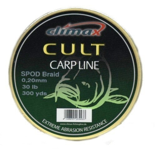 Плетеный шнур для спода Climax CULT Spod Braid  274м 30lb/0,20мм (Желтый)