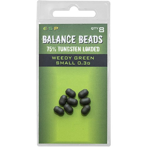 Бусина утяжелённая ESP Tungsten Loaded Balance Beads Small 0,3g Weedy Green