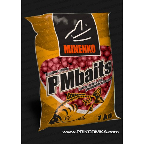 Бойлы пылящие Minenko PMbaits Strawberry 26мм 1 кг (Клубника)