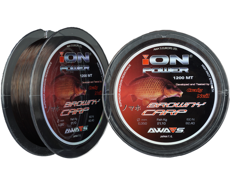 Леска ION Power Browny Carp  1200м 11.95кг/0,309мм (Зеленая)