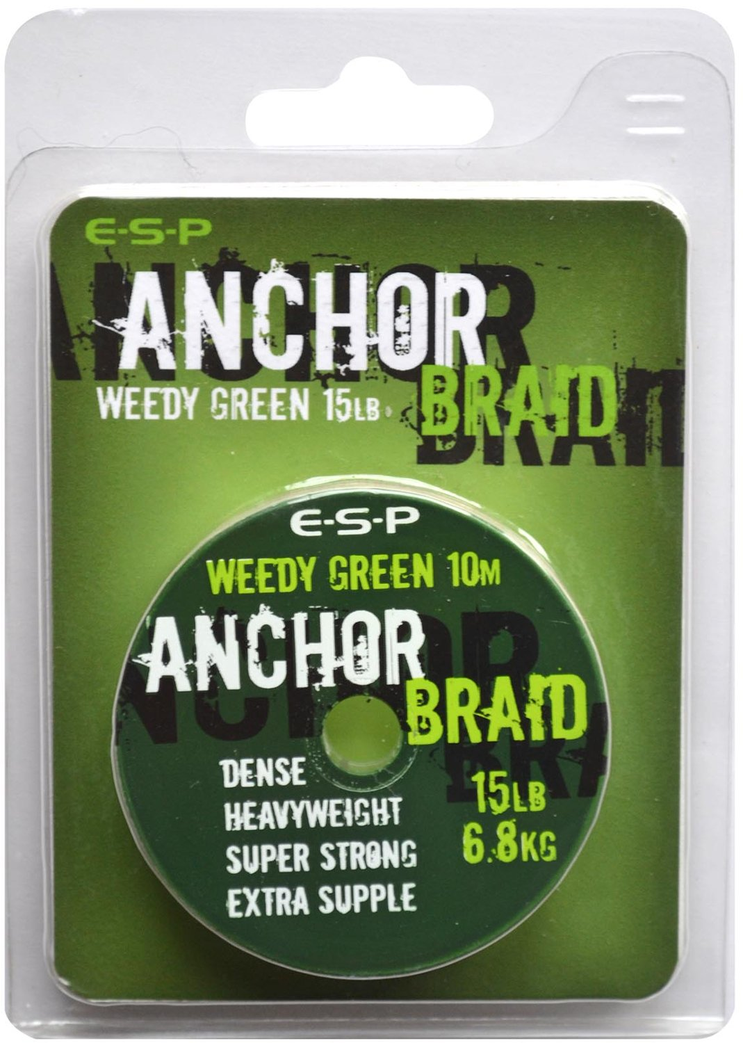 Повод. мат. без оболочки ESP Anchor Braid  10м 15lb/ (Weedy Green )