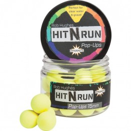 Бойлы плавающие Dynamite Baits   HIT N RUN YELLOW 12мм   ()